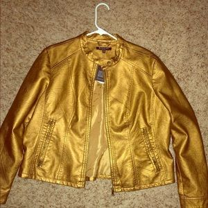 Faux leather GOLD jacket